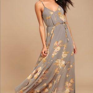 LULUS Feelin' Freesia Maxi Dress
